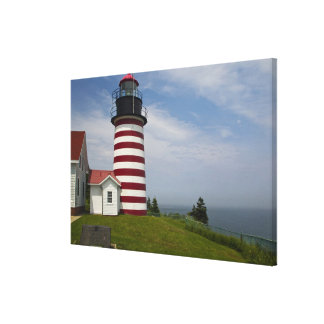 West Quoddy Head Lighthouse State Park is the Canvas Print