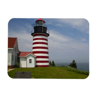 West Quoddy Head Lighthouse State Park is the Rectangular Photo Magnet