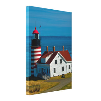 West Quoddy Head Lighthouse Wrapped Canvas