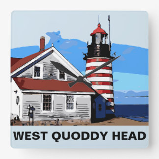WEST QUODDY HEAD SQUARE WALL CLOCK