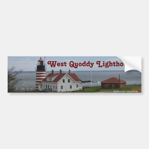 West Quoddy Lighthouse Car Bumper Sticker