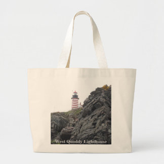 West Quoddy Lighthouse Large Tote Bag