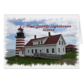 West Quoddy Lighthouse - Maine Card