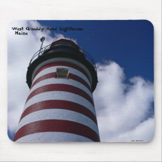 West Quoddy Lighthouse - Mousepad mousepad
