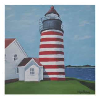 WEST QUODDY LIGHTHOUSE Panel Art
