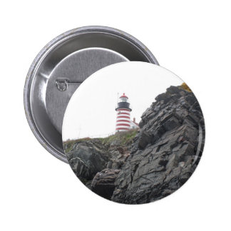 West Quoddy Lighthouse Pinback Button