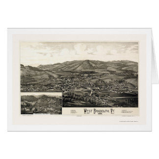 West Randolph, VT Panoramic Map - 1886 Cards