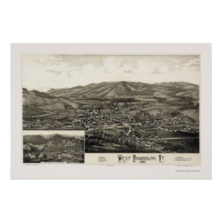 West Randolph, VT Panoramic Map - 1886 Poster