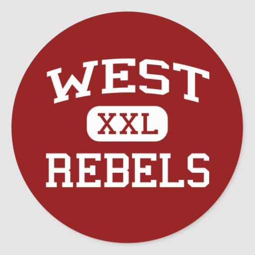 West - Rebels - High School - Knoxville Tennessee Stickers