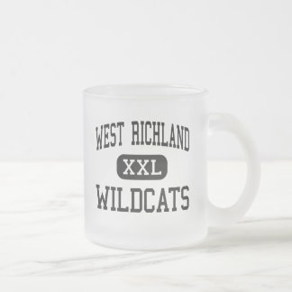 West Richland - Wildcats - High - Noble Illinois 10 Oz Frosted Glass Coffee Mug