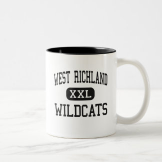West Richland - Wildcats - High - Noble Illinois Two-Tone Coffee Mug