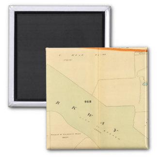 West Roxbury, Massachusetts 4 2 Inch Square Magnet