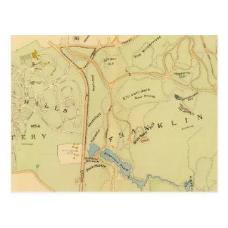 West Roxbury, Massachusetts 7 Postcard