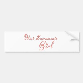 West Sacramento Girl tee shirts Car Bumper Sticker