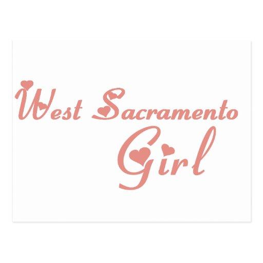 West Sacramento Girl tee shirts Postcard