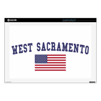 West Sacramento US Flag Decal For Laptop