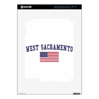 West Sacramento US Flag Decals For iPad 3