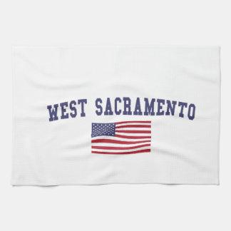 West Sacramento US Flag Hand Towel