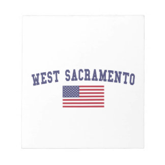West Sacramento US Flag Notepad