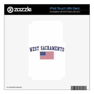 West Sacramento US Flag Skins For iPod Touch 4G