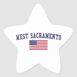West Sacramento US Flag Star Sticker