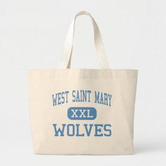 West Saint Mary - Wolves - High - Baldwin Canvas Bag