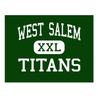 West Salem - Titans - High School - Salem Oregon Postcard