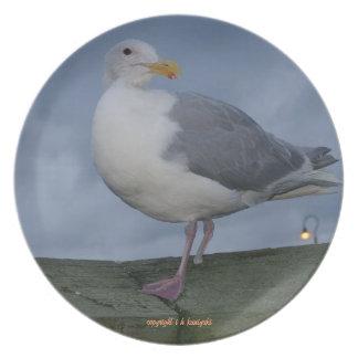 West Seattle's Favorite Gull Melamine Plate
