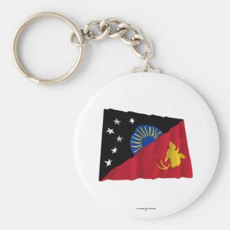 West Sepik (Sandaun) Province Waving Flag Keychain