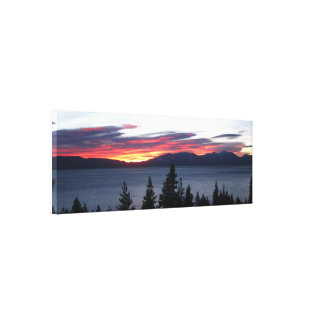 """West Shore Lake Tahoe 36"""" x 12"""" Wrapped Canvas"""