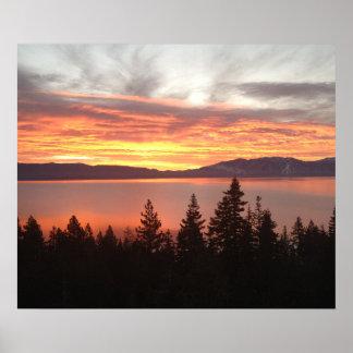 West Shore Lake Tahoe Sunrise Poster