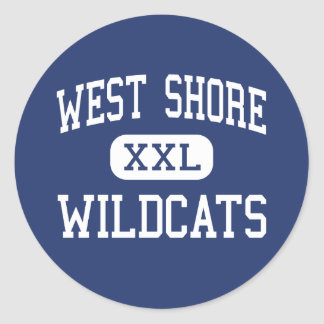 West Shore Wildcats Middle Milford Round Stickers