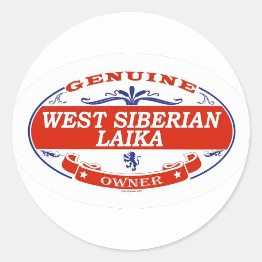 WEST SIBERIAN LAIKA_ CLASSIC ROUND STICKER