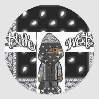 WEST SIDE BLING WEAR CLASSIC ROUND STICKER