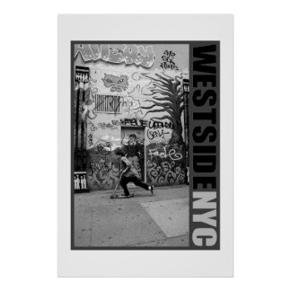 """West Side City Kid"" Print by Urban59 ArtWorks NYC"