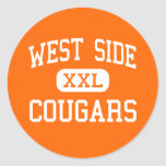 West Side - Cougars - High School - Gary Indiana Classic Round Sticker