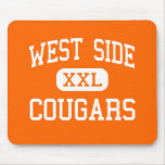 West Side - Cougars - High School - Gary Indiana Mouse Pad