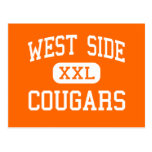 West Side - Cougars - High School - Gary Indiana Post Card