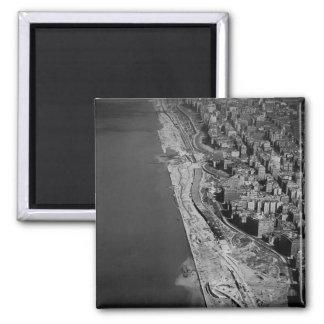 West Side Highway Riverside Drive and Hudson River 2 Inch Square Magnet