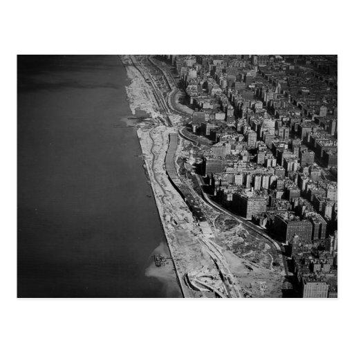 West Side Highway Riverside Drive and Hudson River Postcard