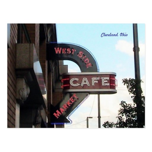 West Side Market, Cleveland Ohio postcard