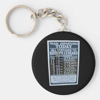 West Somerset Railway, Minehead station timetable Basic Round Button Keychain