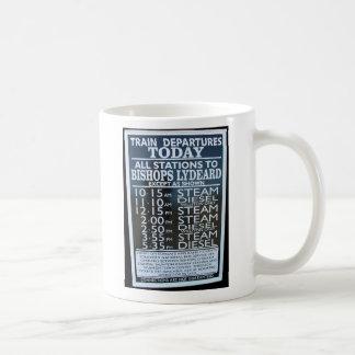 West Somerset Railway, Minehead station timetable Coffee Mug