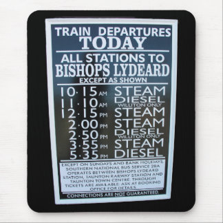 West Somerset Railway, Minehead station timetable Mouse Pad