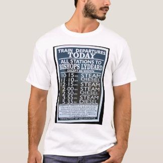 West Somerset Railway, Minehead station timetable T-Shirt