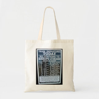 West Somerset Railway, Minehead station timetable Tote Bag