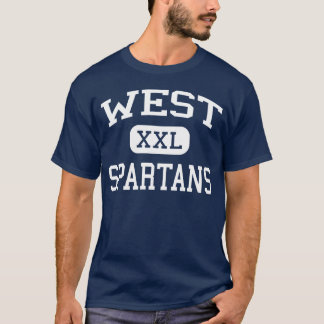 West - Spartans - High - West Bend Wisconsin T-Shirt