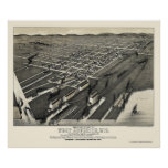 West Superior, WI Panoramic Map - 1887 Posters