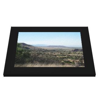West Texas Desert-Landscape Canvas Print