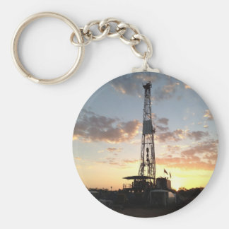 West Texas Drilling Rig Keychain